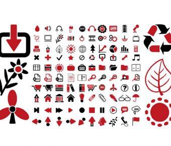 【PPT生活類素材】高質感的4頁PPT生活類素材下載,靜態紅黑風格圖示的頁面格式