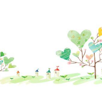 【PPT愛心小樹】大器的6頁PPT愛心小樹模板下載,靜態愛心樹背景素材的樣式檔