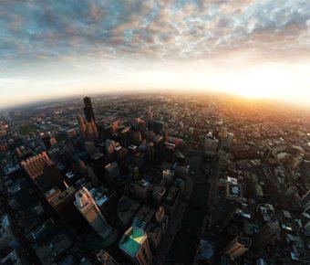 【PPT城市背景】華麗的8張PPT城市背景模板下載,靜態天際線背景圖的模板格式