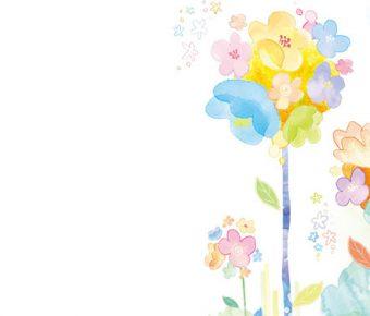 【PPT水彩花朵】很棒的4張PPT水彩花朵模板下載,靜態水彩花圖案的佈景格式檔