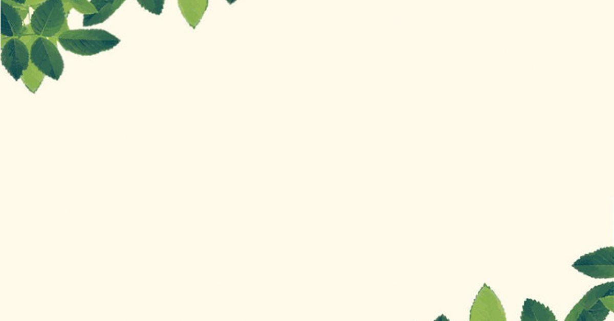 【PPT葉子邊框】不錯的4張PPT葉子邊框模板下載,靜態綠葉邊框圖的範例檔
