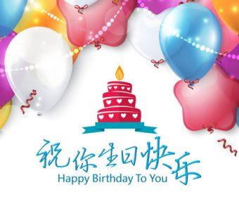 【生日快樂PPT】精緻的20頁生日快樂PPT模板下載,動態生日慶祝簡報的素材作業檔