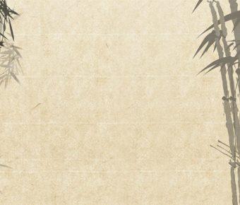 【PPT竹林背景】高質量的5張PPT竹林背景模板下載,靜態復古竹子底圖的版型格式檔
