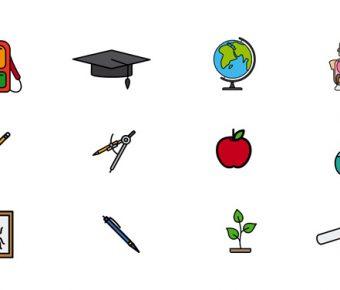 【PPT教育素材】不錯的2頁PPT教育素材模板下載,靜態教學圖案的範本格式