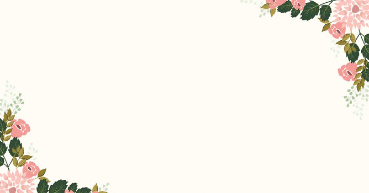 【PPT花草邊框】精細的6張PPT花草邊框模板下載,靜態花朵背景範本的簡報主題檔