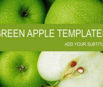 高質感的3頁脆甜的青蘋果幻燈片模板下載,靜態樣版格式檔樣版範例
